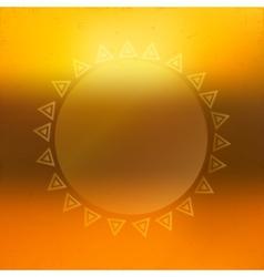 Beautiful sunny background vector image