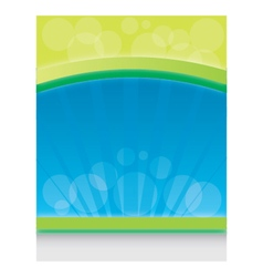 Blue and green background vector