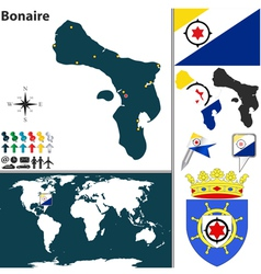Bonaire map vector