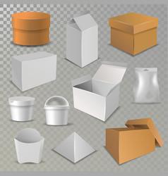 box package cardboard packaging stack of vector image