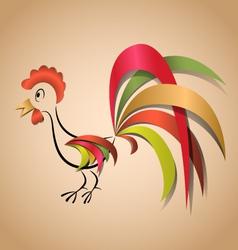 cock 3d vector image vector image