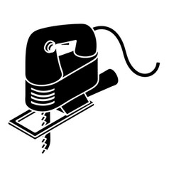 Corded jig saw icon simple style vector