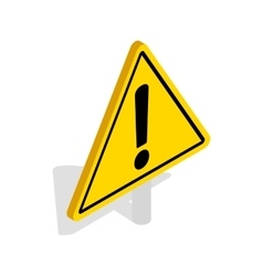 Danger warning sign icon isometric 3d style vector image