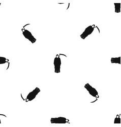 Death with scythe pattern seamless black vector