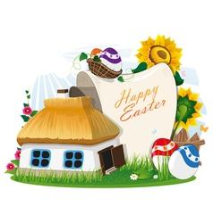 Easter rural background vector