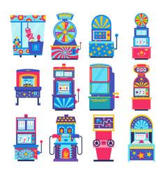 game machine arcade gambling games in vector image
