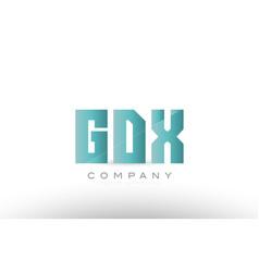 Gdx g d x alphabet three 3 letter green logo icon vector