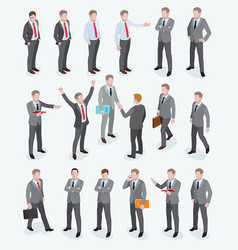 group of business man isometric design vector image vector image