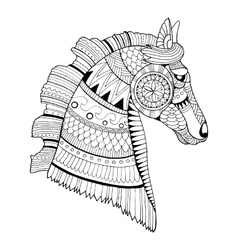 Horse coloring book vector image vector image