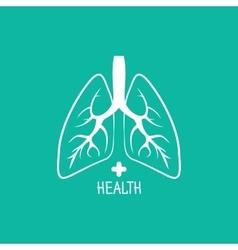 Human lungs logo design template vector image