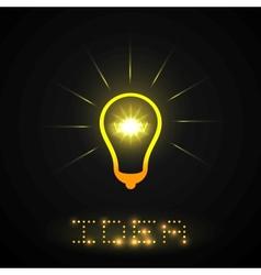 Idea light bulb vector