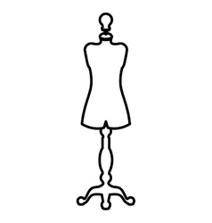 Isolated and silhouette manikin design vector