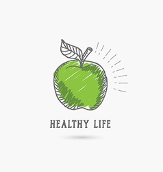 Logo healthy lifestyle Design icon vector image vector image