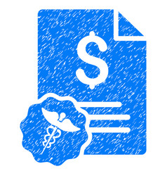 Medical invoice grunge icon vector