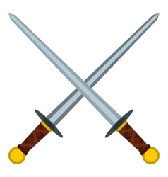 Medieval swords icon flat style vector