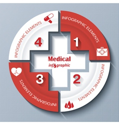 Modern template for medical project vector