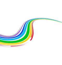 multicolor wave vector image