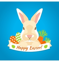 Rabbit easter label vector