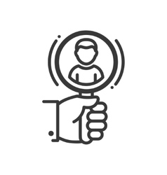 Recruiting - line design single isolated icon vector image