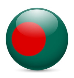 Round glossy icon of bangladesh vector image