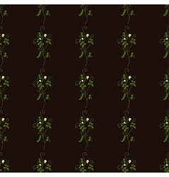 Seamless vertical floral pattern with pea vector image vector image