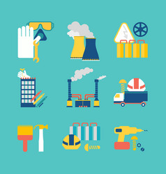 Set of flat design style decorative icons vector