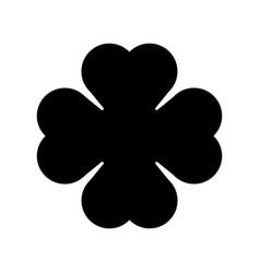 shamrock silhouette - black four leaf clover icon vector image vector image