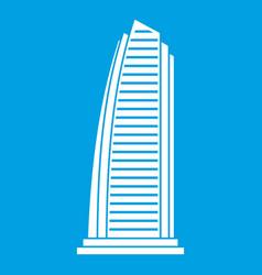 skyscraper icon white vector image