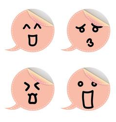 speech bubble emoticon vector image