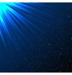 Stars sky night Blue rays Glare vector image