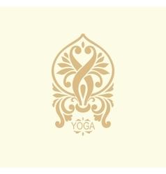 Stylized yoga icon vector image