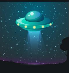 Ufo light alien sky beams ufo spaceship vector