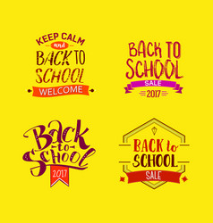 Welcome back to school tags vector