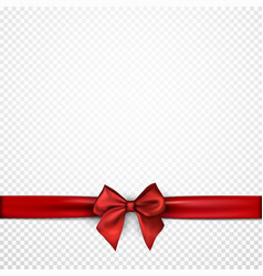 white holiday background with red bow vector image vector image