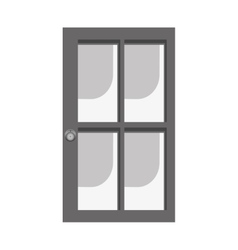 glass and wood door icon image vector image