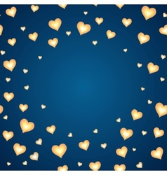 Background with cartoon hearts template for card vector