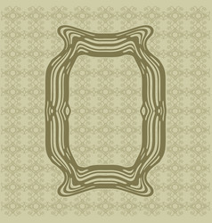 Art nouveau smooth lines decorative rectangle vector