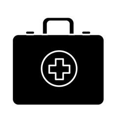 contour first aid kit emergency vector image