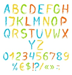 Painted english alphabet vector