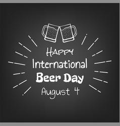Happy international beer day vector