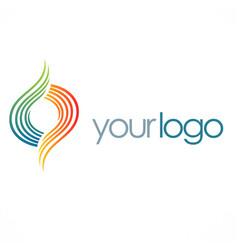 Circle swirl color logo vector
