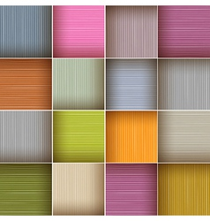 Square Colorful Wooden Abstract Background vector image