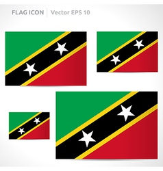 Saint kitts and nevis flag template vector