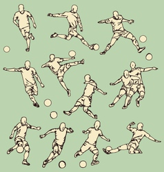 Soccer sport action collection vector
