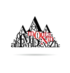 Typography mountain abstract vector