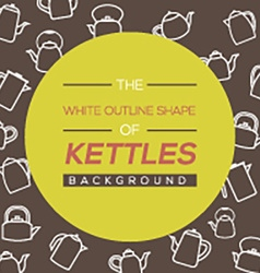 Kettles background vector