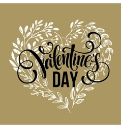 Valentines day card design hand drawn text vector