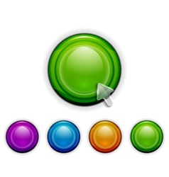 Smooth buttons vector