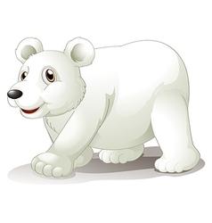 A big white bear vector