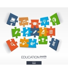 Abstract education background connected color vector